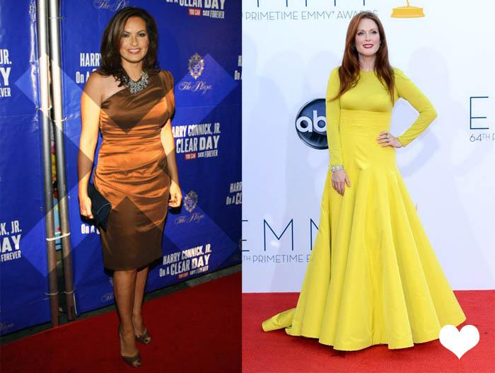 MINHA MÃE QUER SER MOCINHA_Cor de coco_vestido marrom_O que nunca usar_Vestido amarelo_Julianne Moore_Emmy2012