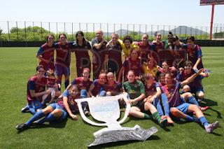 FÚTBOL-Las chicas culés ya saben que es ganar una liga
