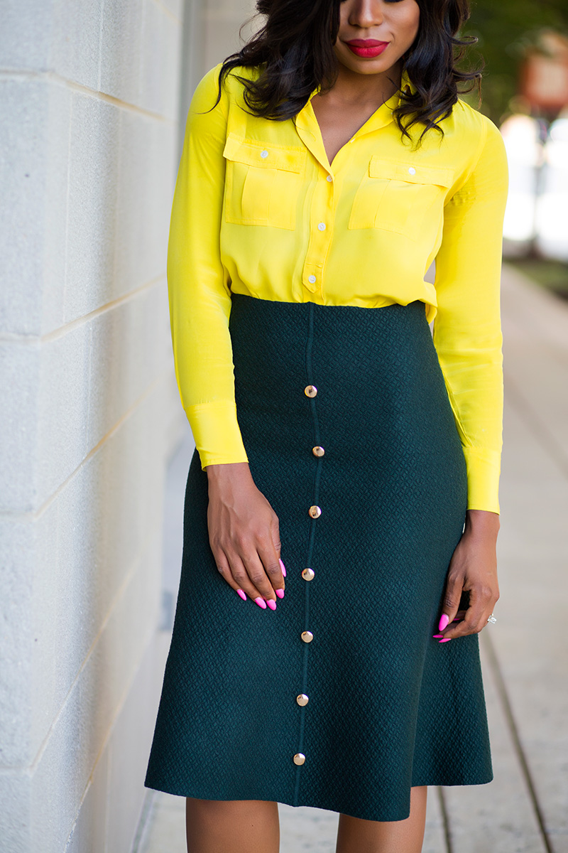 Fall work style ideas, JCrew blouse, christian louboutin