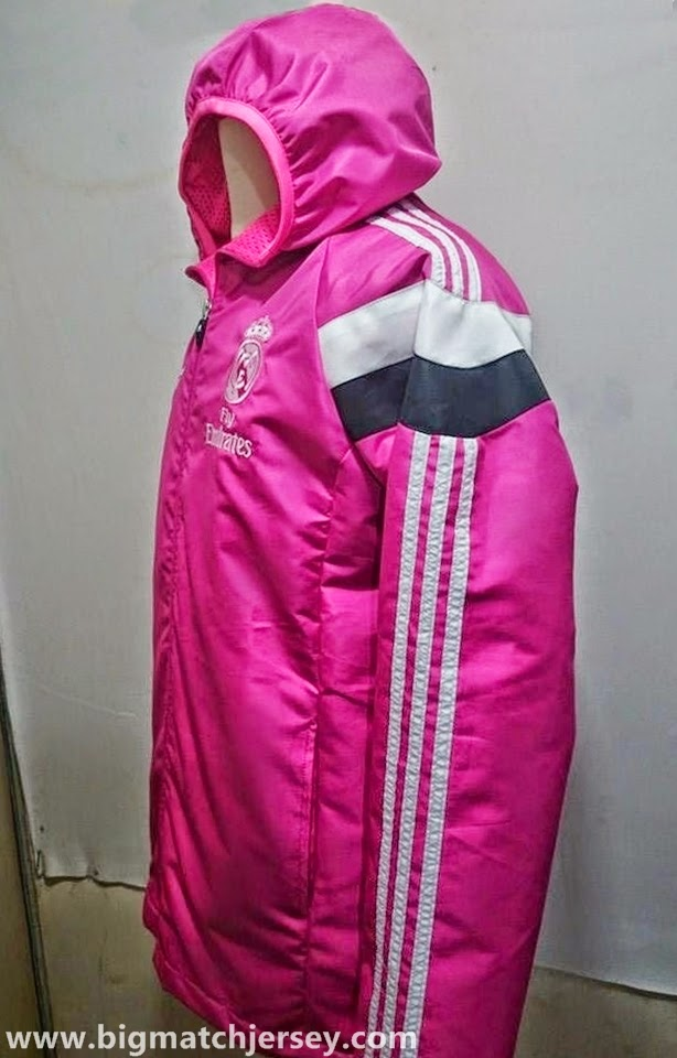Jaket Real Madrid Windrunner Casual Pink