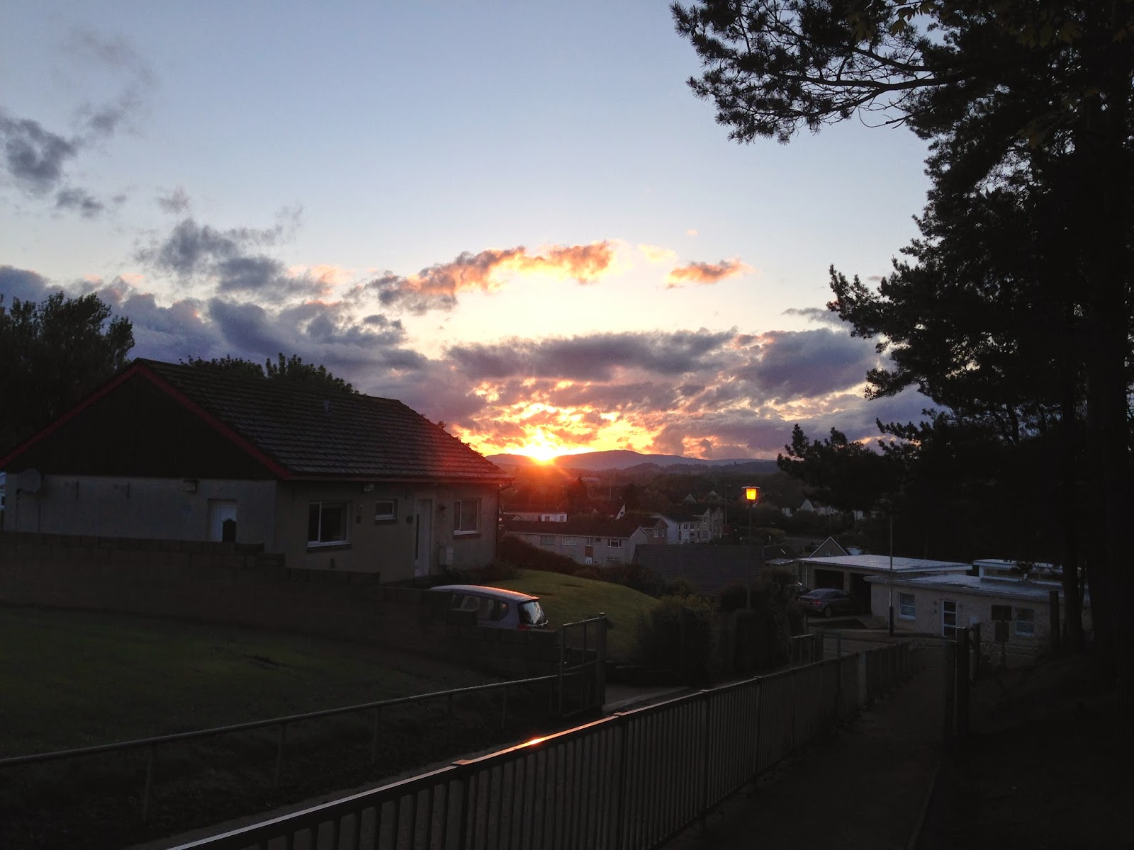 Sunset view from Barnill Primary School in Broughty Ferry 13 May 2014