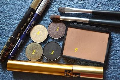 brown black khaki eotd beginner makeup YSL Faux cils noir radical