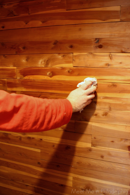 Wiping Cedar Walls In Cedar Closet Via Meet Me In Philadelphia