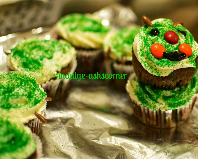 The very hungry Caterpilar cupcake.