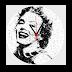 Marilyn Montro Duvar Saati