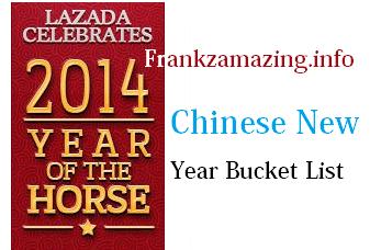 My Lazada Chinese New Year Bucket List