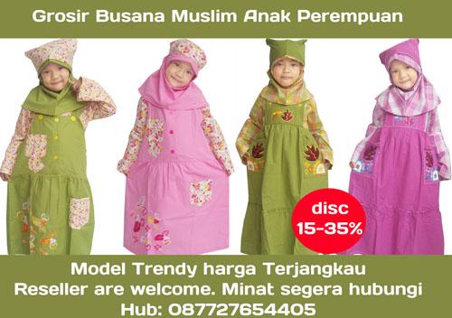 Grosir Busana Muslim Anak Perempuan merk hana-fazi