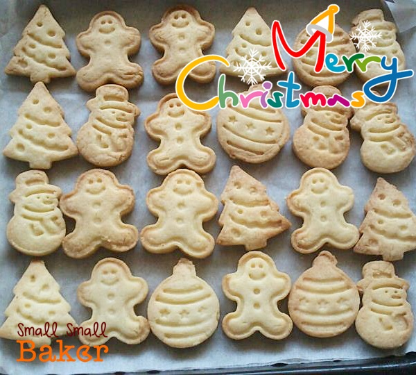 Small Small Baker: Merry Christmas with cutout butter cookies!