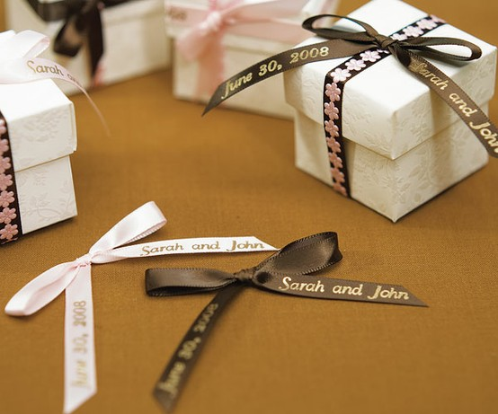 Wedding Ribbons Favor Boxes