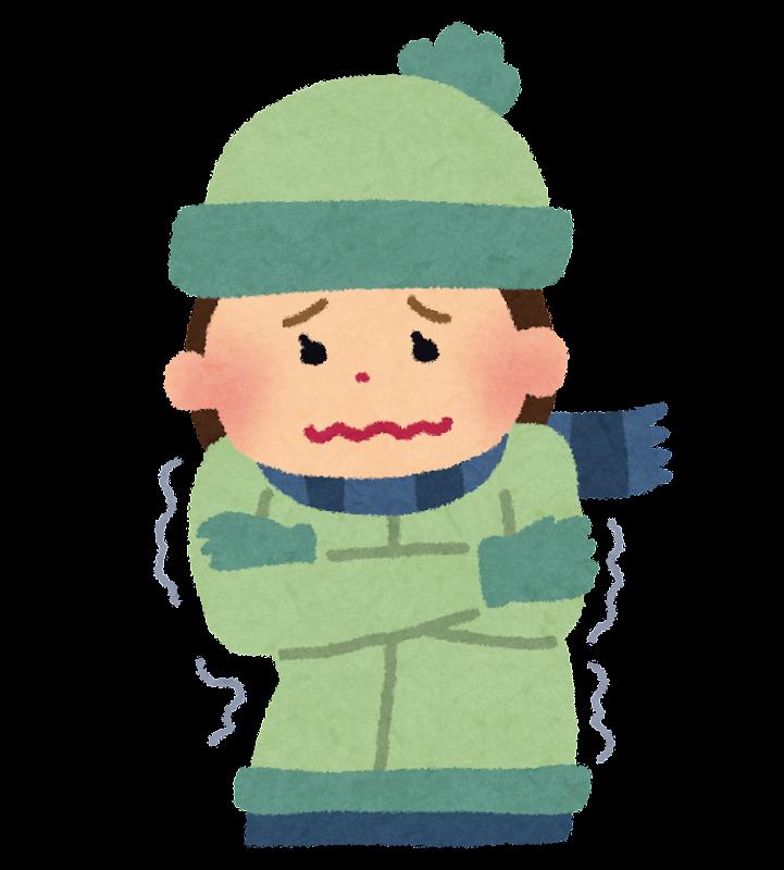 ブルブルと震えながら寒がって ... : 子どもの年賀状 : 年賀状