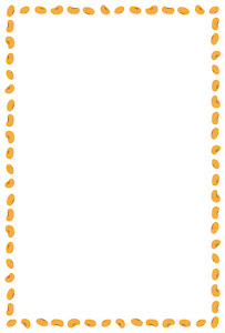 節分のフレーム素材(節分の豆)縦