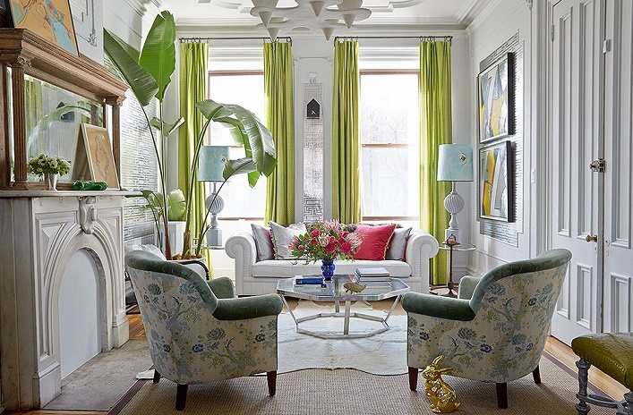 Mix and chic home tour inside a designer 39 s fresh and for New york brownstone interior design