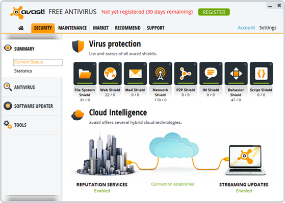 Download Avast! 8 Antivirus