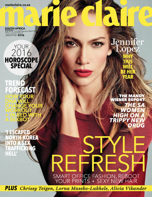 Actress, Singer, @ Jennifer Lopez - Marie Claire South Africa, January/February 2016