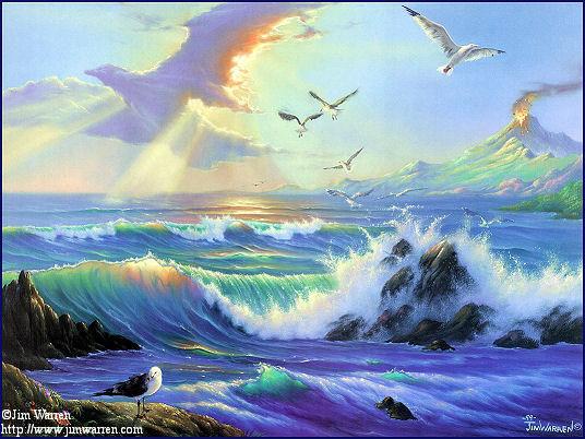 فيه لحظاتي مع نفسي سماء زرقاء بحر كبير