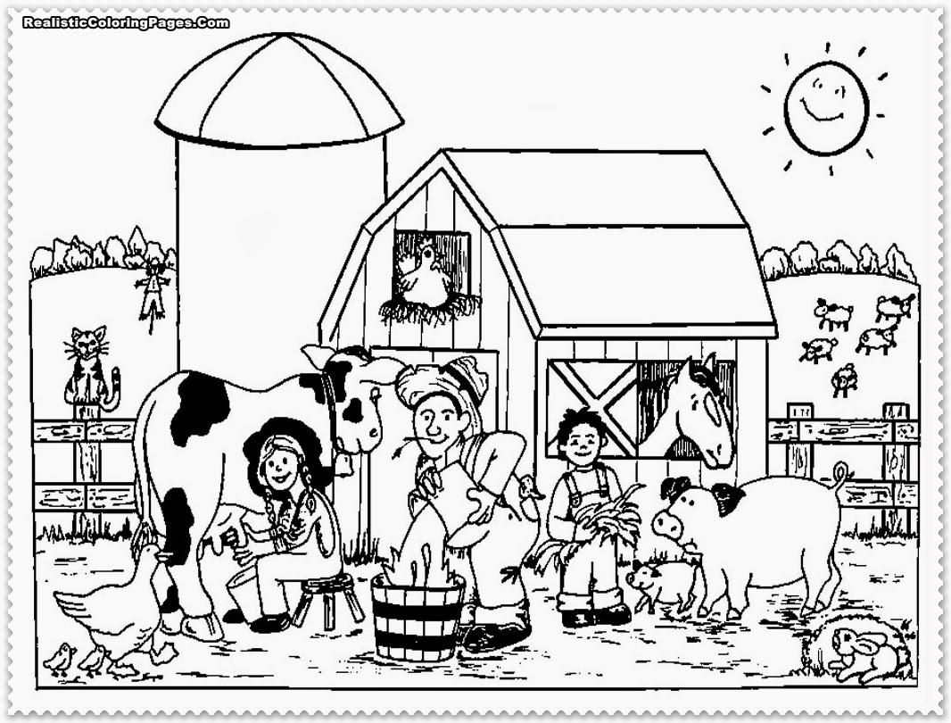 printable coloring pages farm animal - photo#32