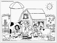 free printable farm animal coloring pages