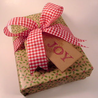 Christmas Present with Joy Gift Tag