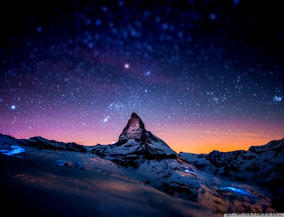 Mountain at Night HD desktop wallpaper  High Definition