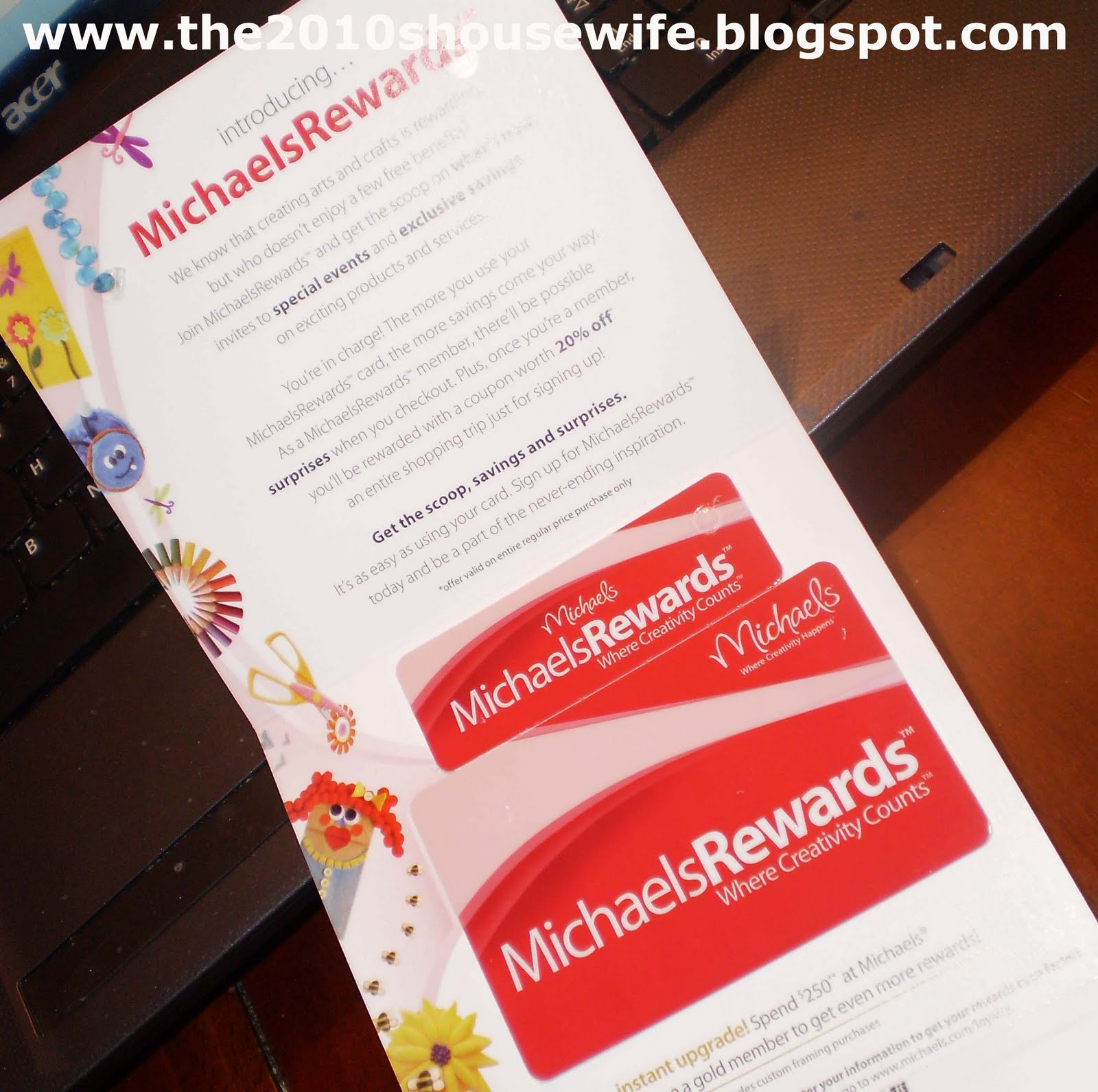 The 2010\'s Housewife: Michaels Reward Card