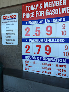 Costco gas for Feb. 21, 2015 at Redwood City, CA