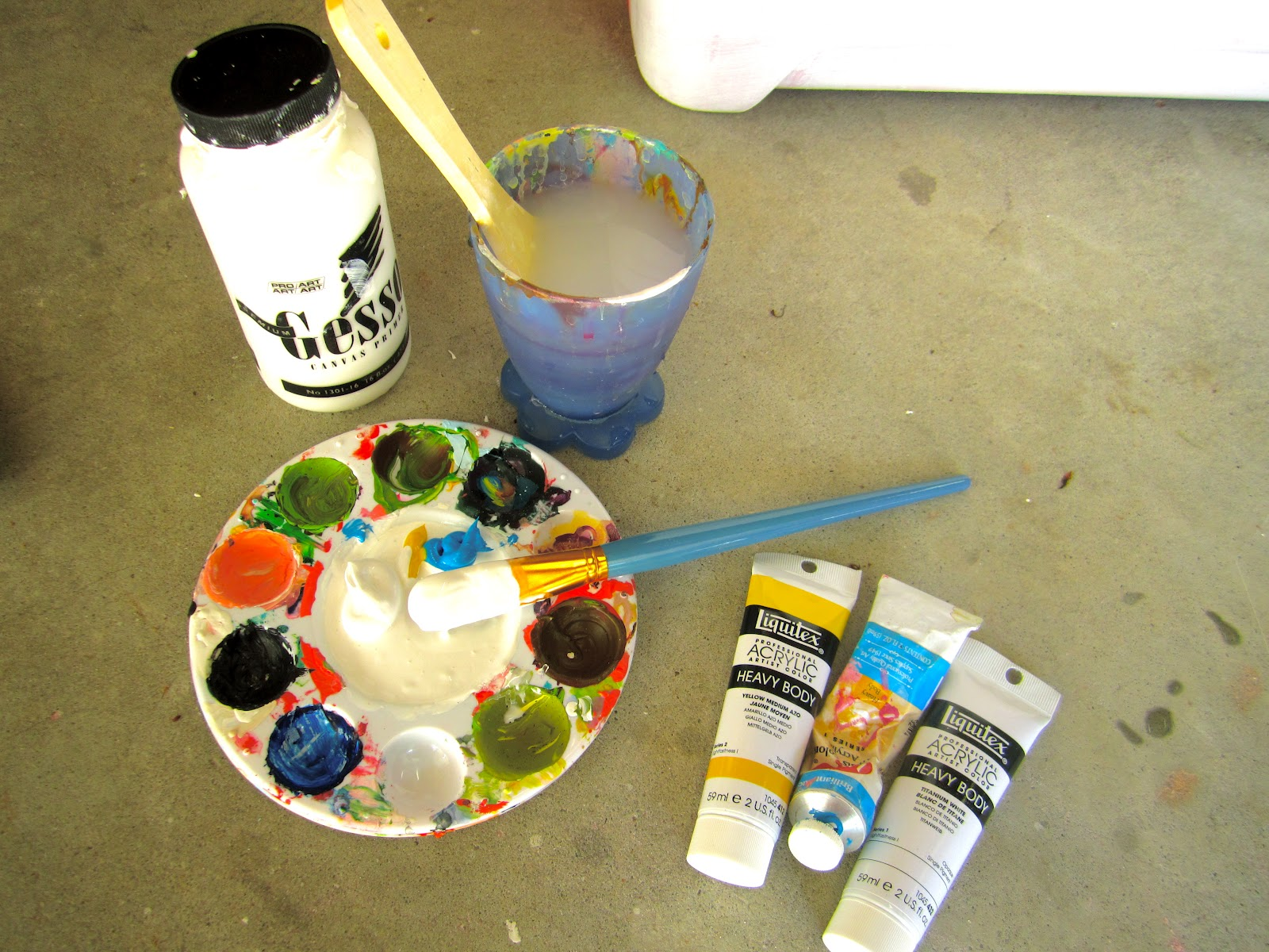 acrylic paint step by step instructions