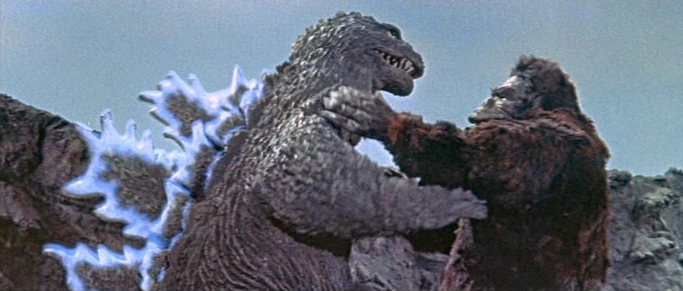 classic Godzilla versus King Kong