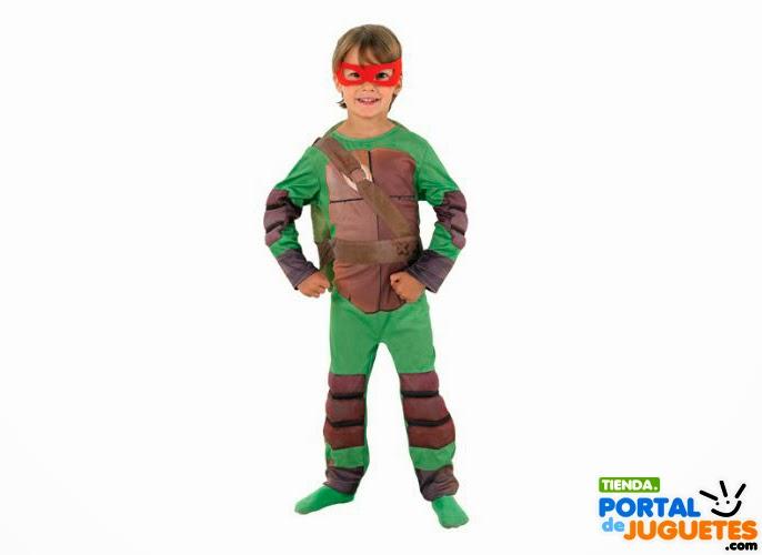 disfraz tortugas ninja niño carnaval
