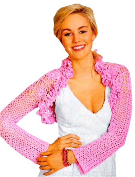 Розовое болеро