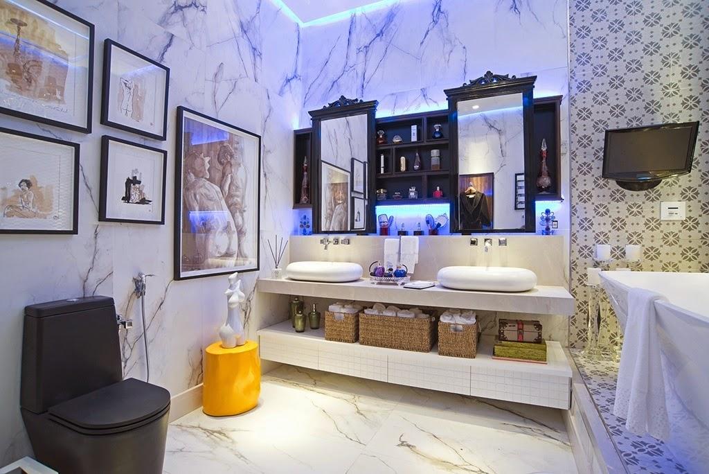 decoracao banheiro retro : decoracao banheiro retro:Além dessas formas que são as mais usuais, o espelho na bancada pode