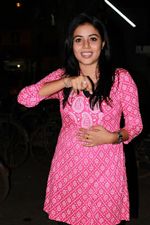 Poorna spotted at Viththagan Movie Press Show Event in Pink Top