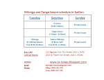 Milonga and Tango lesson schedule in SaiGon