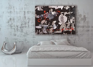 black, white, red, grey, abstract, canvas print, wall art, canvas art