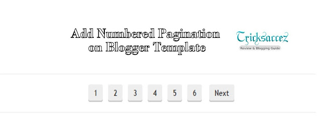 Add Numbered Pagination on blogger template