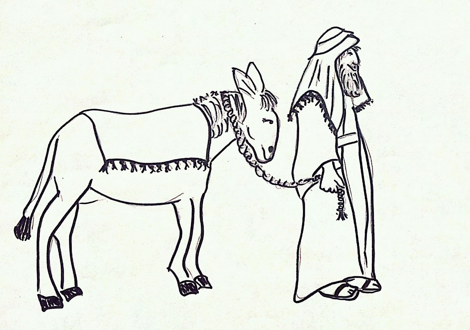 joseph mary coloring pages - photo#20