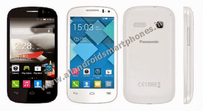 Panasonic T31 Dual Sim 3G Android Smartphone Black White Front Back Side Images Photos Review