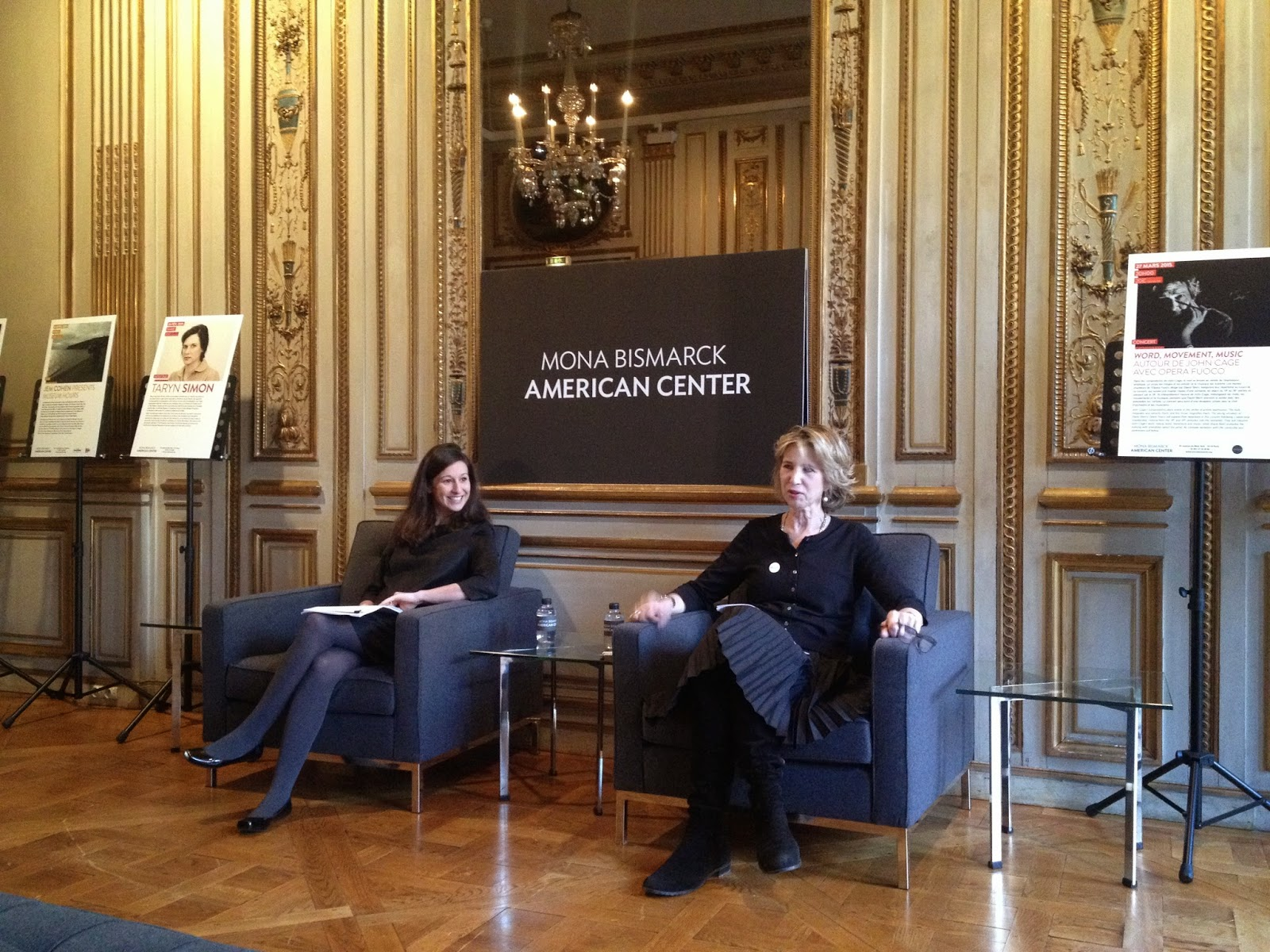 Danielle Berger Fortier (left) and Bianca Roberts (right), Mona Bismarck American Center, Paris