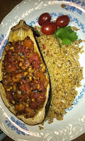 Jerk Eggplant with Quinoa