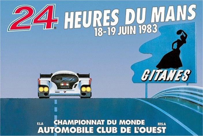 Affiche officielle des 24 Heures du Mans 1983