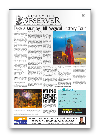 Munjoy Hill Observer August 2013 Cover. Portland, Maine.