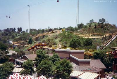 Goldrusher coaster Magic Mountain1975 Valencia Eagle's Flight