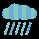 梅雨のマーク(雨雲)