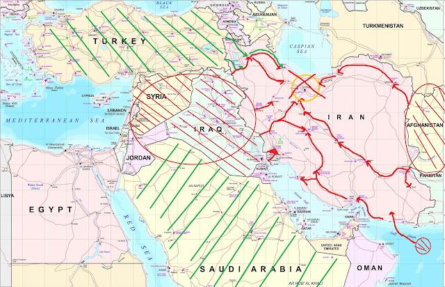 Нападение на Иран, Захват Ирана