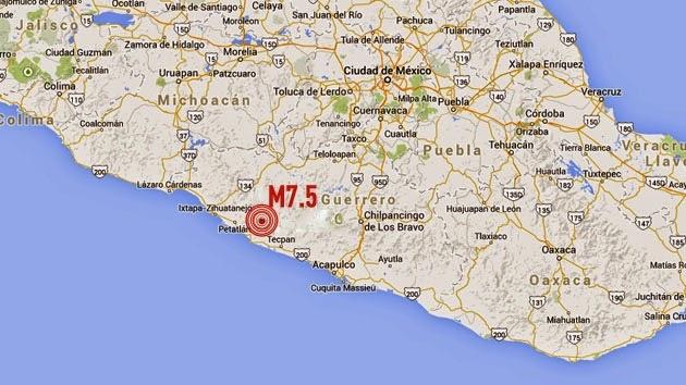 TERREMOTO MEXICO 18 DE ABRIL 2014