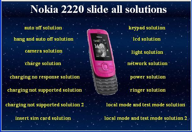 Nokia 2220 Charger Program Nokia 2220 Slide All