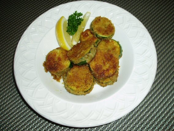 Meatless Mediterranean: Herb-Breaded Fried Zucchini Rounds