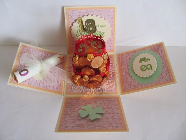 Mona S Handmade Exploding Box Zum 18 Geburtstag