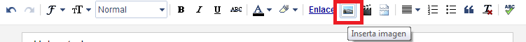 Alineado de iconos Blogger