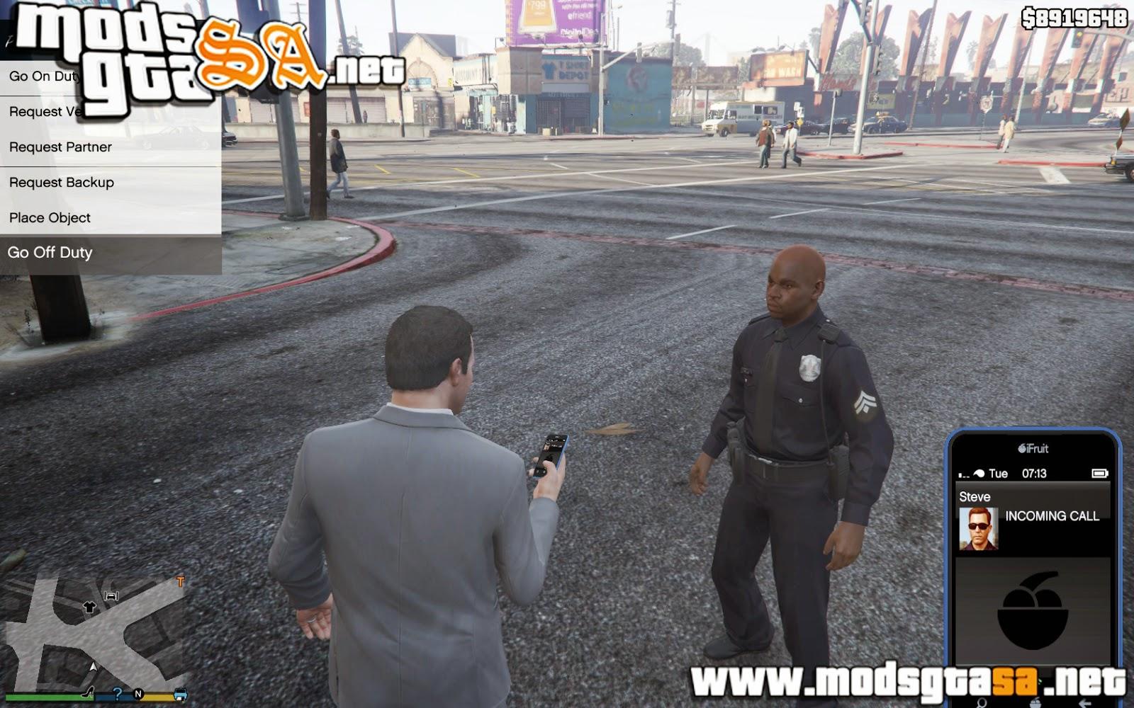 V - Mod Policia para GTA V PC