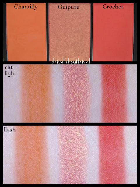 swatch Sleek Blush by 3 trio lace chantilly guipure crochet